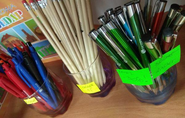 Długopisy, ołówki z logo Gołdapi