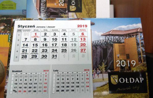 Mini kalendarz biurkowy