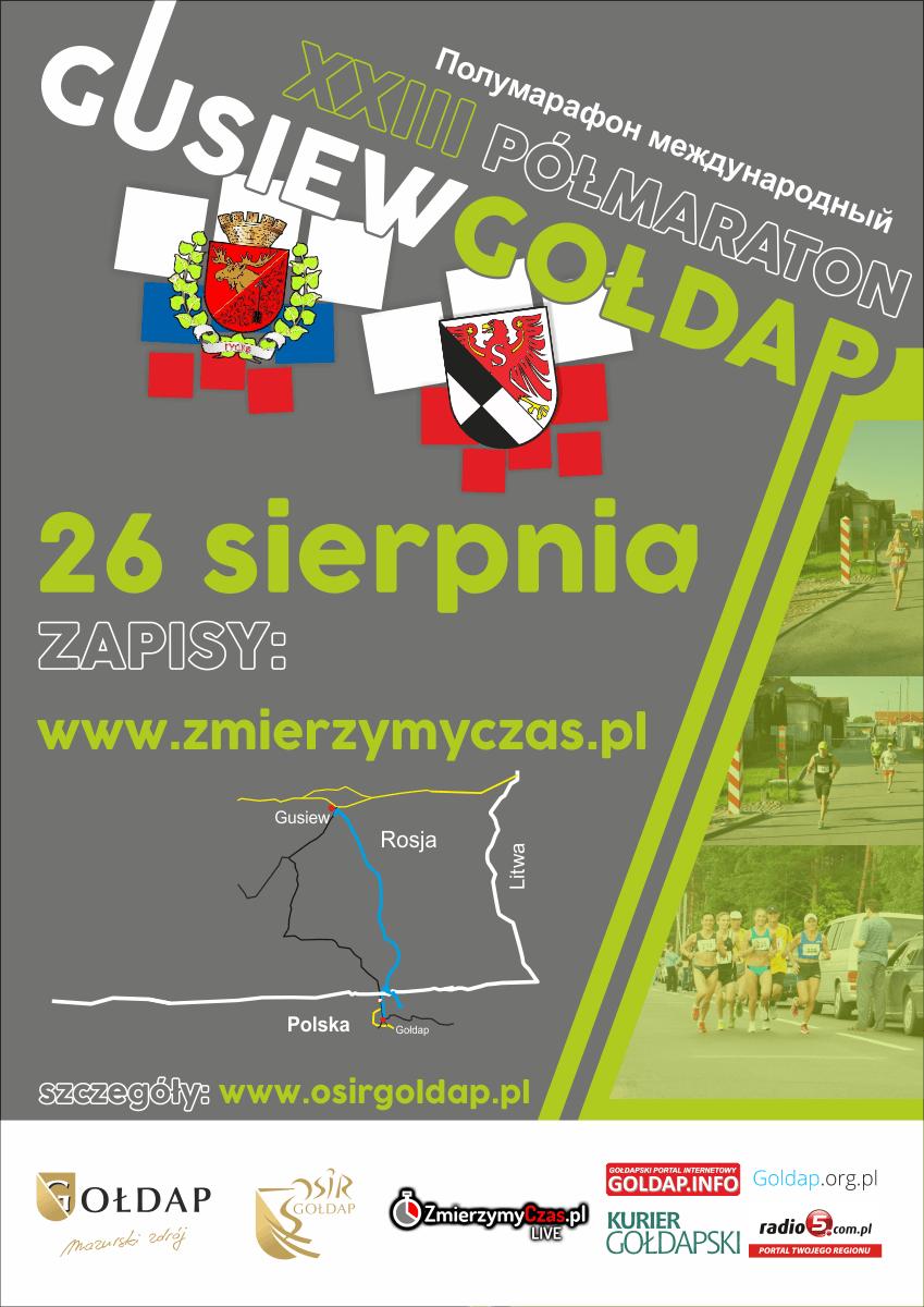 Zapisy na XXIII Półmaraton Gusiew - Gołdap