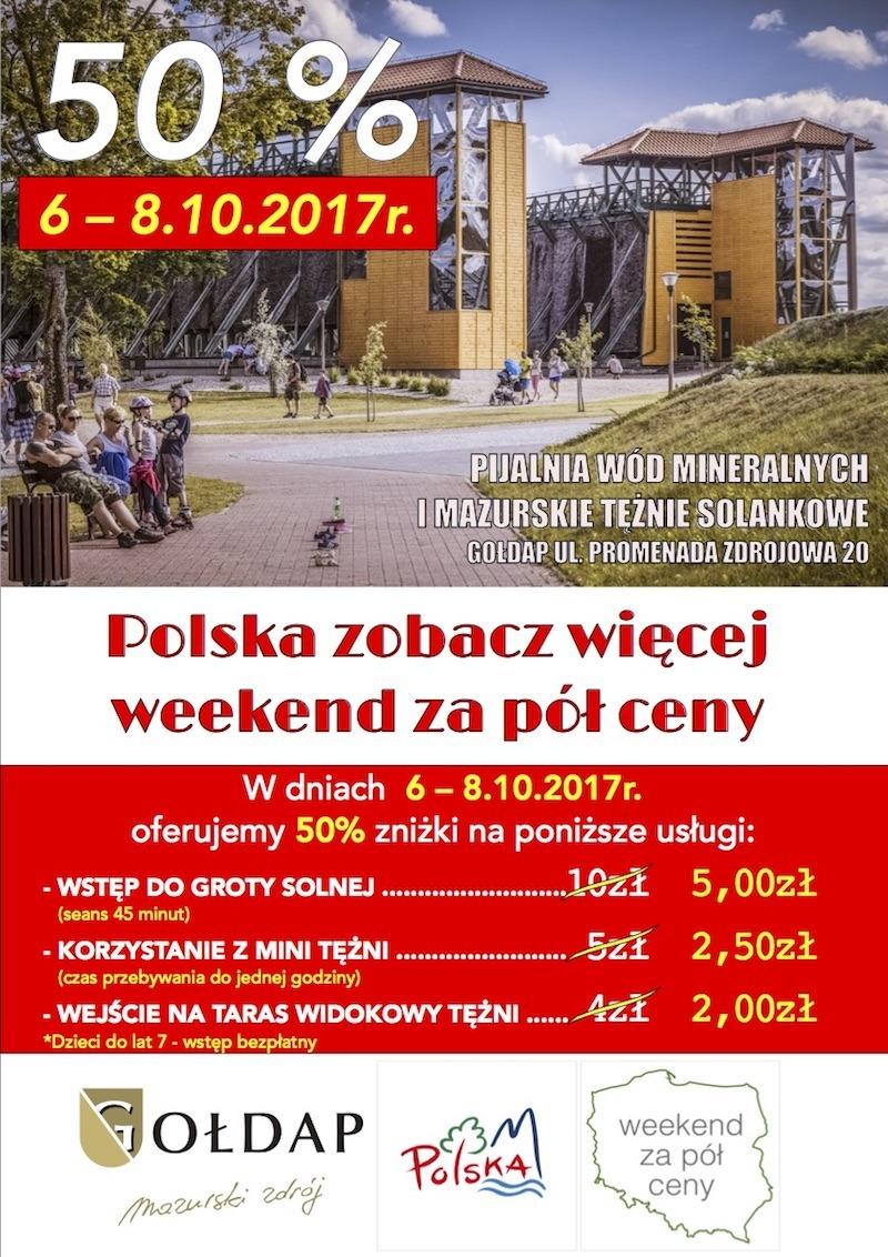 Polska zobacz więcej – weekend za pół ceny, 6 - 8 października 2017r.