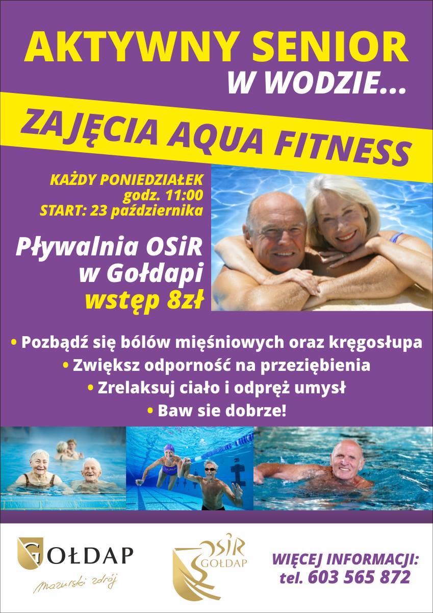 Zapraszamy seniorów na zajęcia aqua fitness.