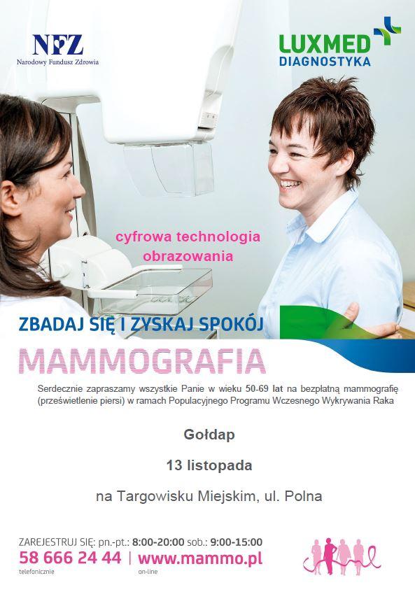 Mammobus LUX MED - bezpłatne badania dla kobiet