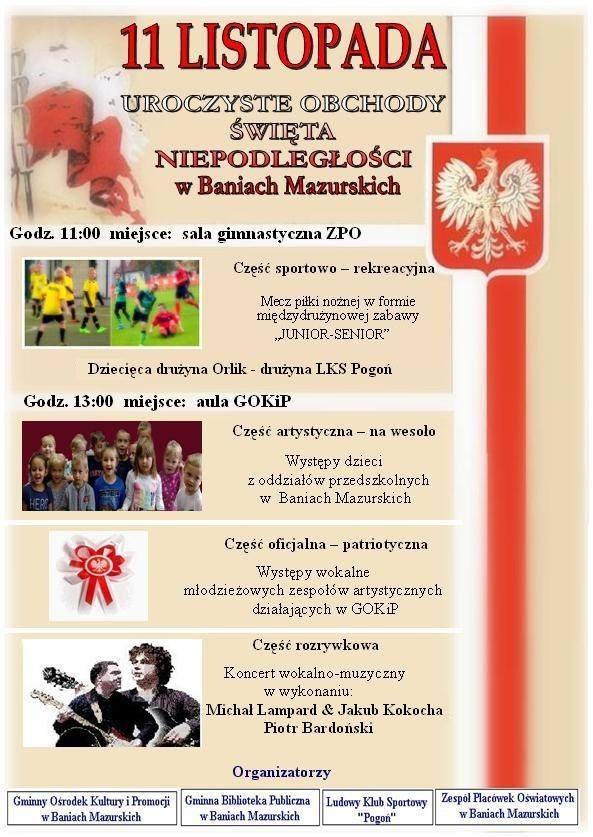 Obchody Dnia Niepodległości-Banie Mazurskie