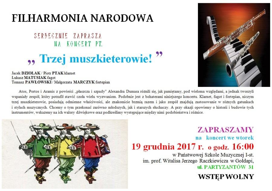 19. 12. 2017 Koncert Filharmonii Narodowej