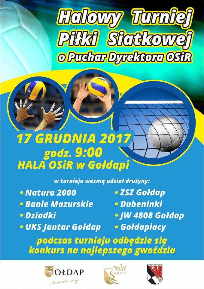 Halowy Turniej Piłki Siatkowej o Puchar Dyrektora OSIR