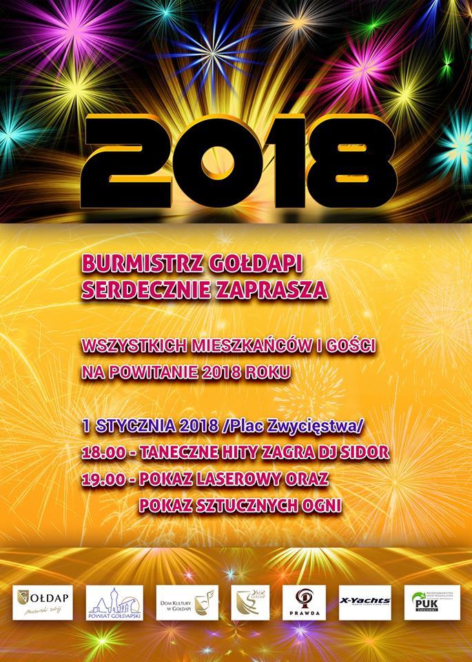 Pokaz laserowy oraz sztucznych  ogni w Nowy Rok !