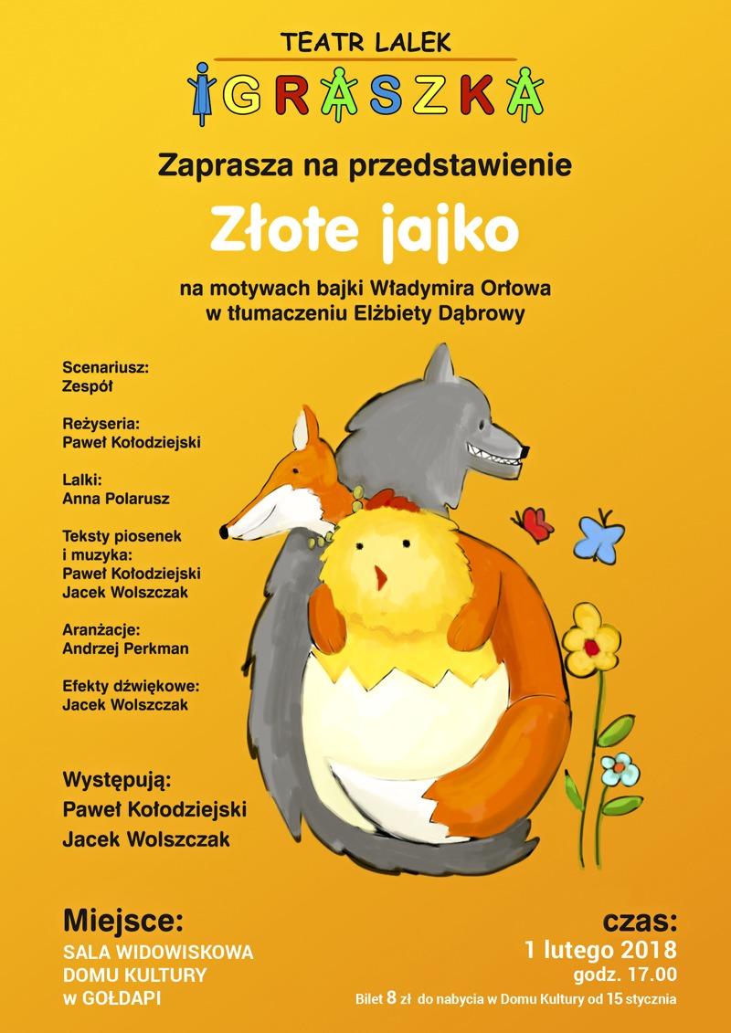 """""""Złote jajko"""" - spektakl dla dzieci"""