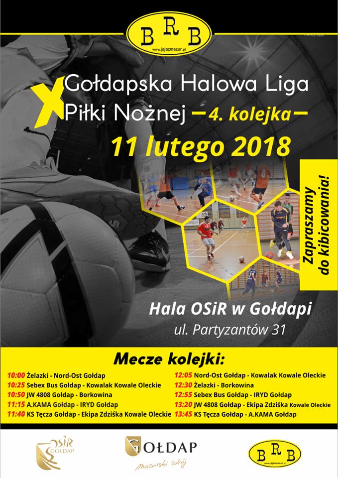 X Gołdapska Halowa Liga Piłki Nożnej - 4 kolejka