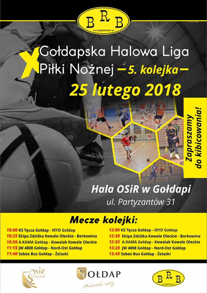 V kolejka Gołdapskiej Halowej Ligi Piłki Nożnej