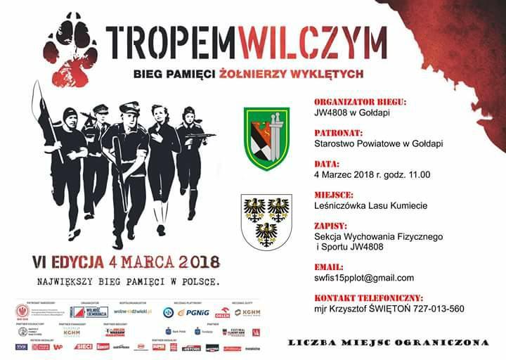 VI Edycja 4 marca 2018 Bieg Pamięci Żołnierzy Wyklętych