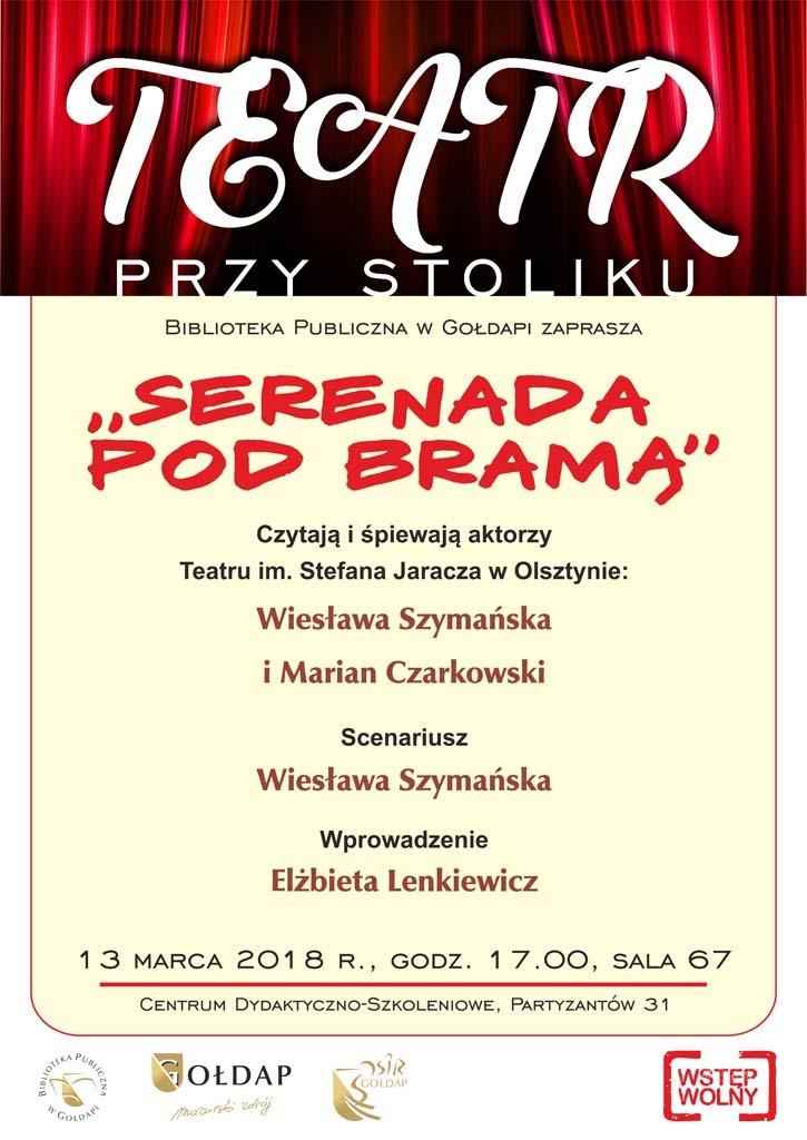 "Teatr przy stoliku "" Serenada pod bramą """