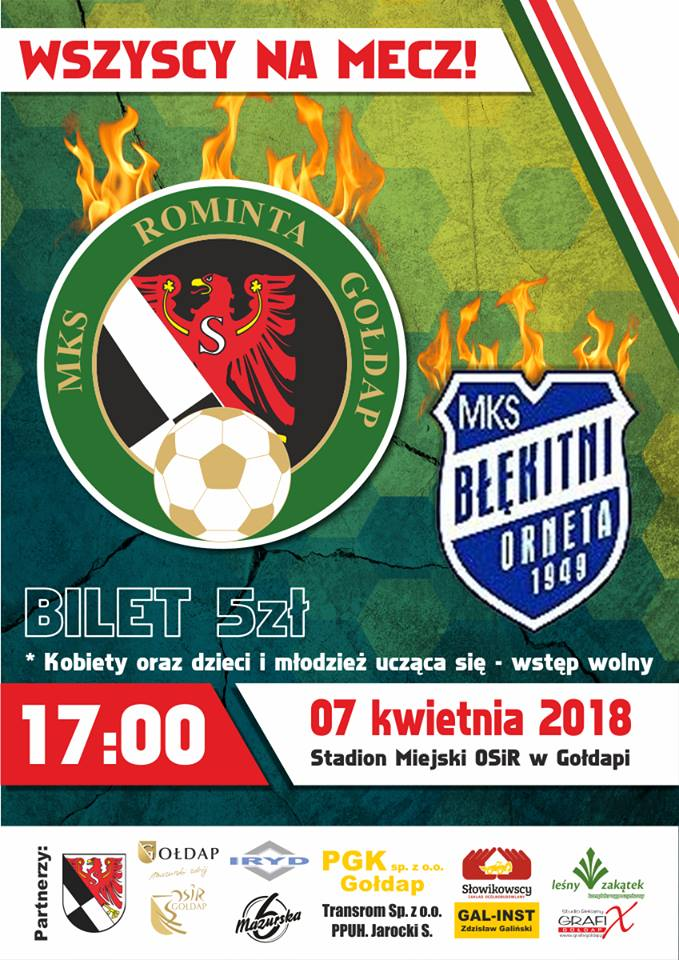 7 kwietnia mecz MKS Rominta Gołdap
