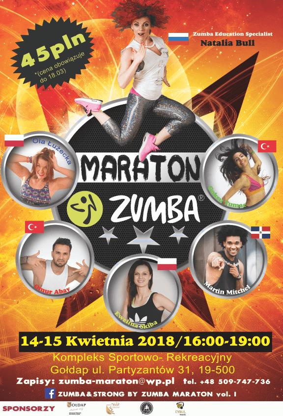 Maratony Zumba  14-15 kwietnia