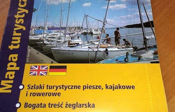 """Mapa ,,Wielkie Jeziora Mazurskie"""""""