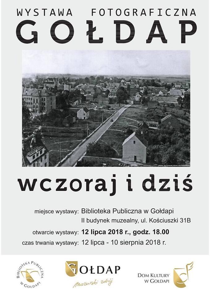 """Wystawa fotograficzna """" Gołdap wczoraj i dziś """""""
