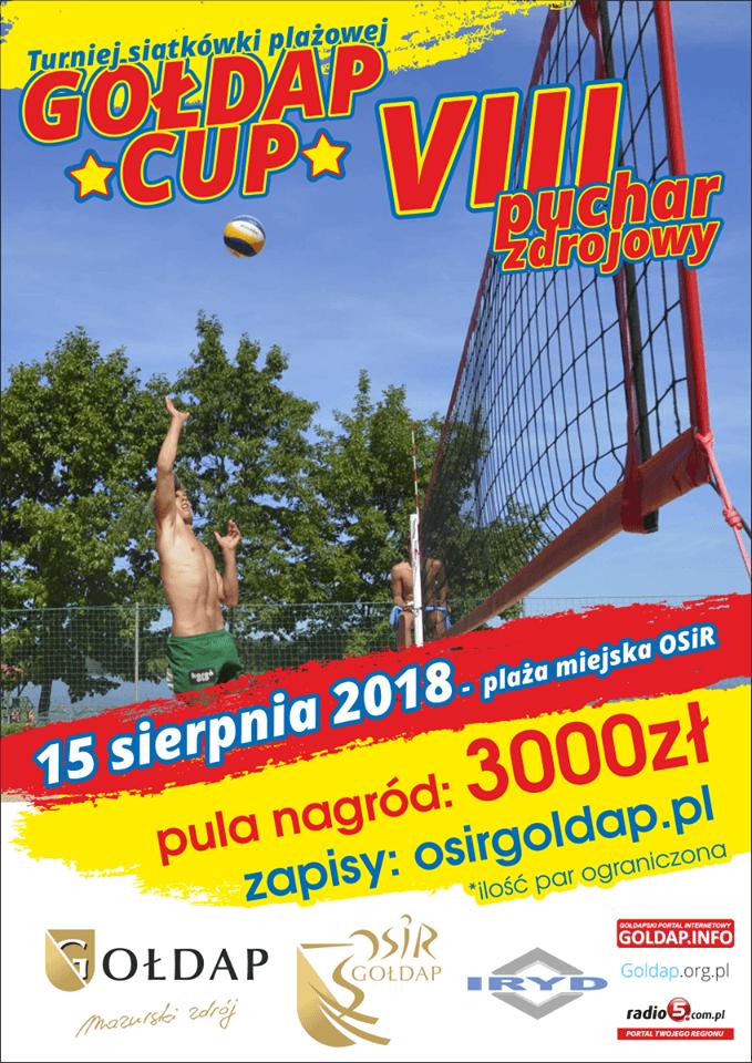 """VIII Turniej Siatkówki Plażowej """"GOŁDAP CUP"""""""