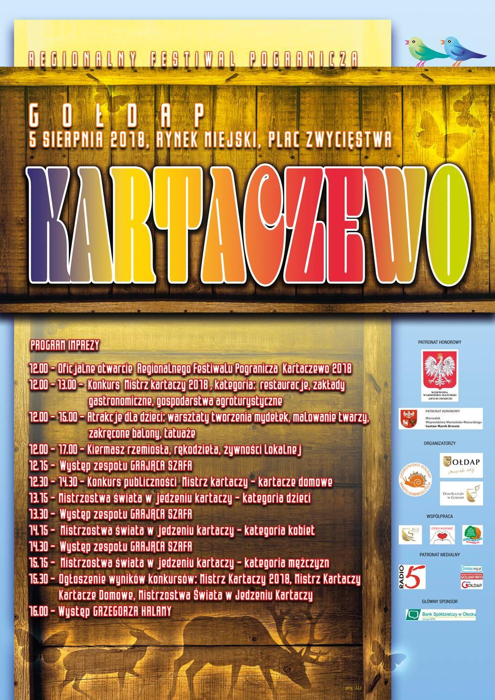 Kartaczewo - program imprezy