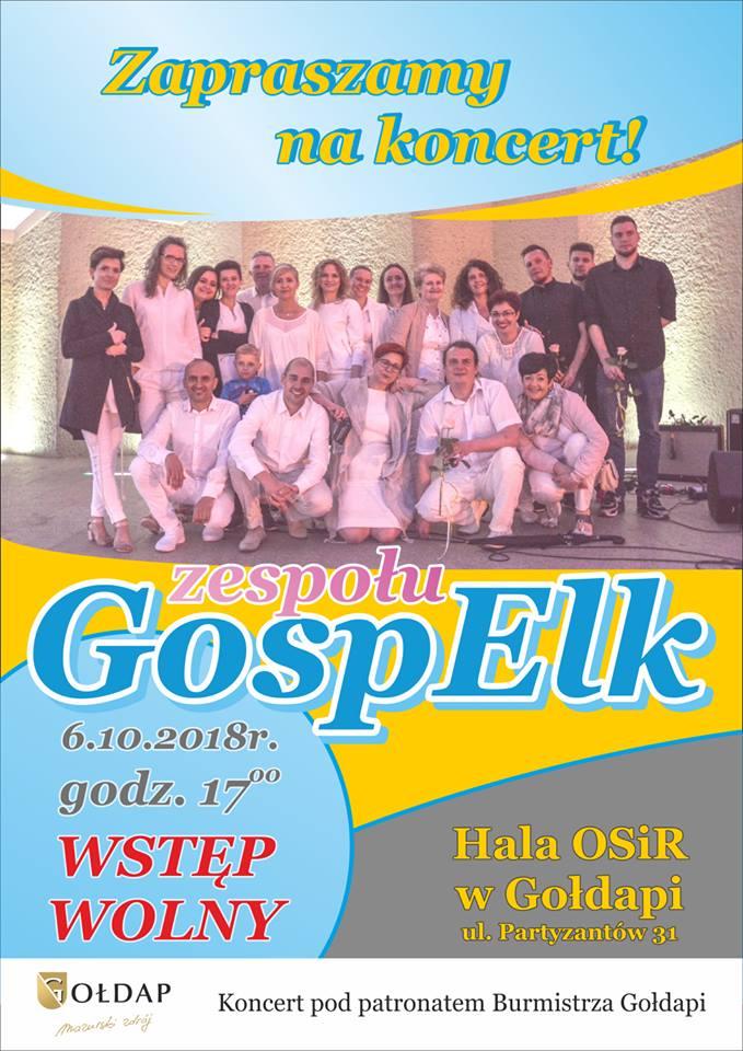 Koncert Muzyki chrześcijańskiej zespołu GospElk