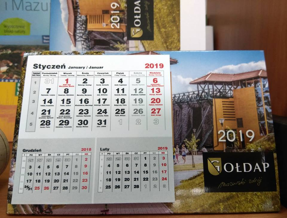 Gołdapskie kalendarze 2019 dostępne