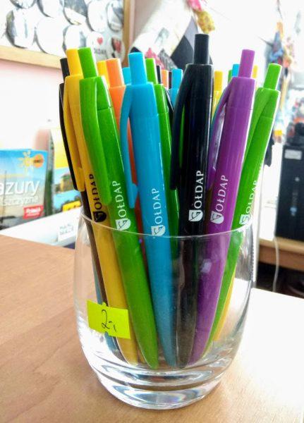 Długopis plastikowy z logo