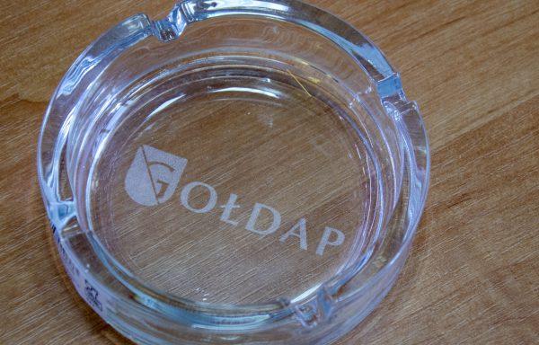 Popielniczka szklana z grawerem