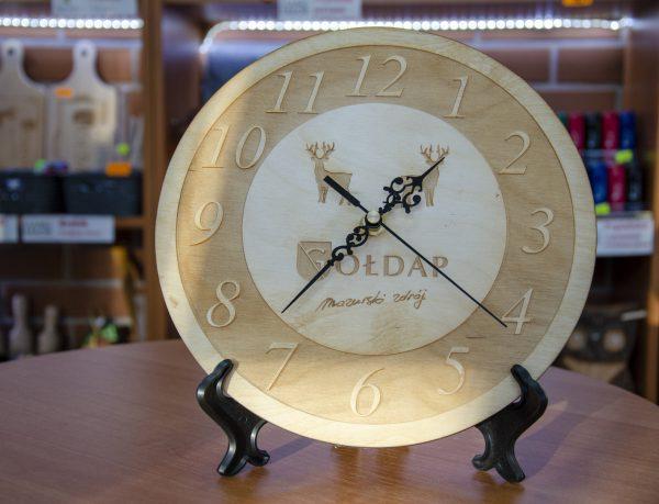 Zegar grawerowany z Gołdapi