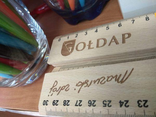 Linijka drewniana Gołdap (30 cm)