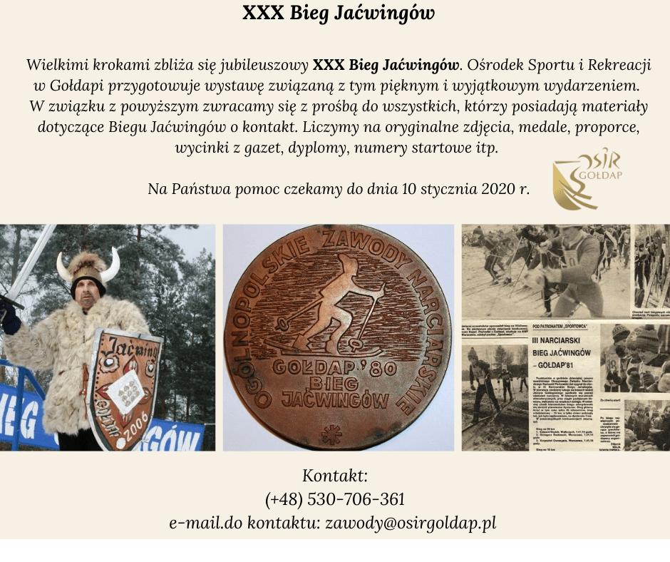 Wystawa z okazji XXX Biegu Jaćwingów