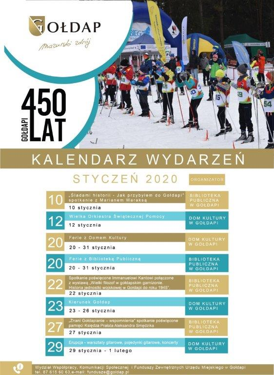 [Kalendarz] Wydarzenia Stycznia 2020 w Gołdapi