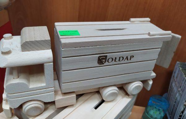 Skarbonka drewniana z grawerem Gołdap